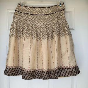 LOFT Boho Pleated Full Skirt - size 8